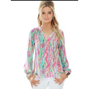 Lilly Pulitzer Elsa blouse 100% silk